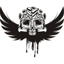Gothik Skull Wings Aufkleber