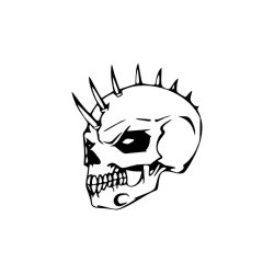 Gothik Totenkopf 1 Aufkleber