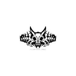 Gothik Totenkopf 5 Aufkleber