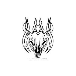 Gothik Totenkopf 6 Aufkleber