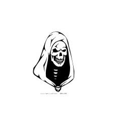 Gothik Totenkopf 14 Aufkleber