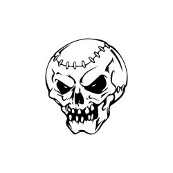 Gothik Totenkopf 17 Aufkleber