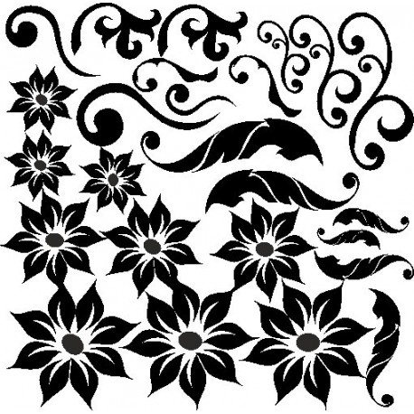 Aufkleber: Blumen Aufkleber selber gestalten 1