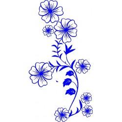 aufkleber autoaufkleber fl�gel, wolf, hund, babyaufkleber Blume 24 Wandtattoo