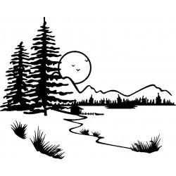 aufkleber autoaufkleber fl�gel, wolf, hund, babyaufkleber Wandtattoo Landschaft 1