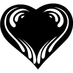 Autoaufkleber: Hochzeits Herz Aufkleber, Autoaufkleber, Heckscheibenaufkleber