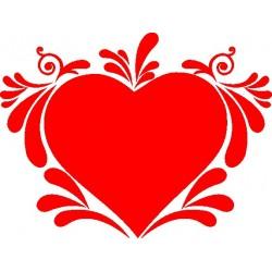 Autoaufkleber: Sticker Herz  06 Aufkleber, Autoaufkleber, Heckscheibenaufkleber