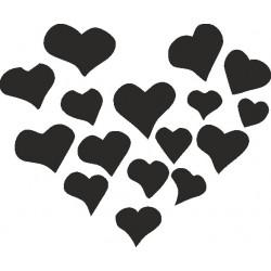Autoaufkleber: Sticker Herz  01 Aufkleber, Autoaufkleber, Heckscheibenaufkleber