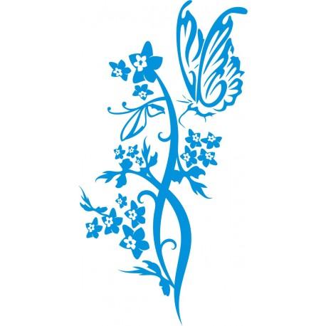 Aufkleber: Wandbild Blume 9
