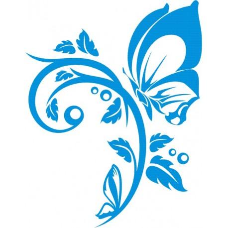Aufkleber: Aufkleber-Blume 44