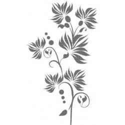 aufkleber autoaufkleber fl�gel, wolf, hund, babyaufkleber Blume 45 Wandaufkleber