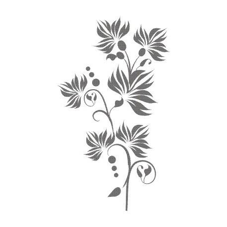 Aufkleber: Blume 45 Wandaufkleber