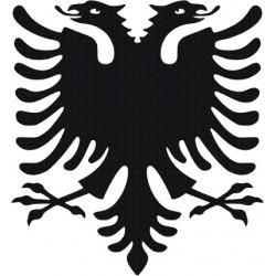 aufkleber autoaufkleber fl�gel, wolf, hund, babyaufkleber Aufkleber Albanien