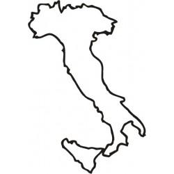 Aufkleber Italien Umriss