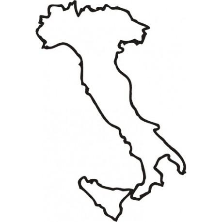 Aufkleber: Italien Umriss