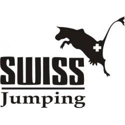 aufkleber autoaufkleber fl�gel, wolf, hund, babyaufkleber Aufkleber Swiss Jumping