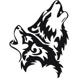 aufkleber autoaufkleber fl?gel, wolf, hund, babyaufkleber Hund Aufkleber
