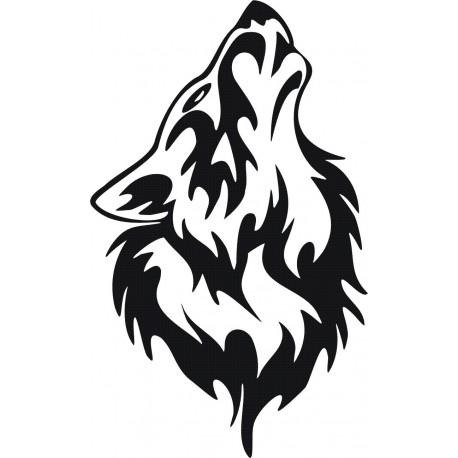 Aufkleber: Wolf Aufkleber 16