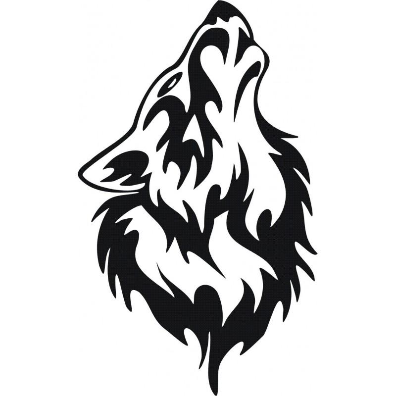 aufkleber für auto  aufkleber tiere wolf und hund motiv