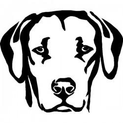 Autoaufkleber: Hunde Aufkleber 3 aufkleber fur auto blume dekoration