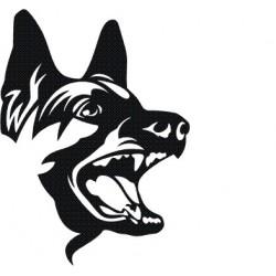 Autoaufkleber: Aufkleber Hund 4 autoaufkleber