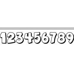 Autoaufkleber: Aufkleber Startnummer 0-9 autoaufkleber