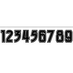Autoaufkleber: Startnummer Aufkleber 0-9 Beschriftungen, Autoaufkleber, Webetexte, Werbetechnik