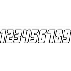 Autoaufkleber: Startnummer 0-9 Aufkleber Beschriftungen, Autoaufkleber, Webetexte, Werbetechnik