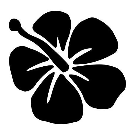 Aufkleber: Hibiskusblüte Aufkleber 7