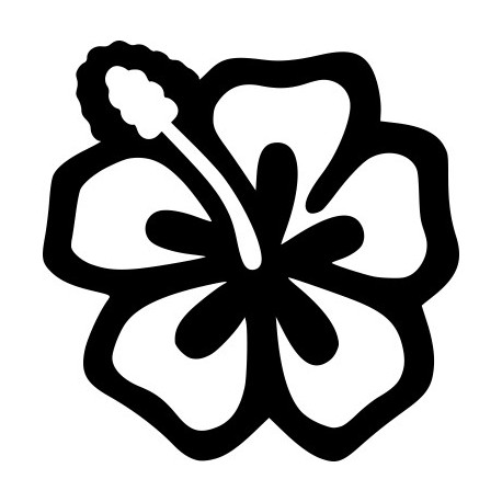 Aufkleber: Hibiskusblüte Aufkleber 5