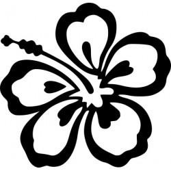 aufkleber autoaufkleber fl�gel, wolf, hund, babyaufkleber Hibiskusblüte Aufkleber 8