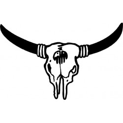 Autoaufkleber: Indianer Stier Beschriftungen, Autoaufkleber, Webetexte, Werbetechnik