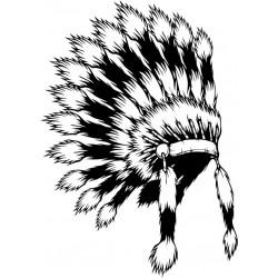 Indianer 6 Autoaufkleber