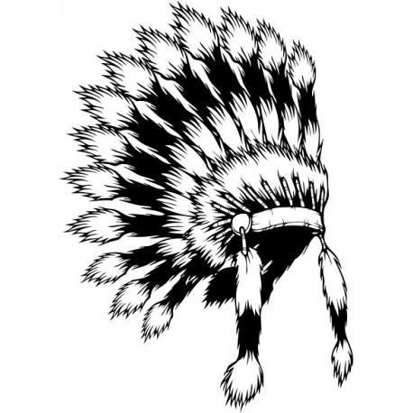 Aufkleber: Indianer 6 Autoaufkleber