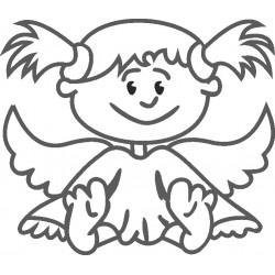 aufkleber autoaufkleber fl�gel, wolf, hund, babyaufkleber Kind Engel