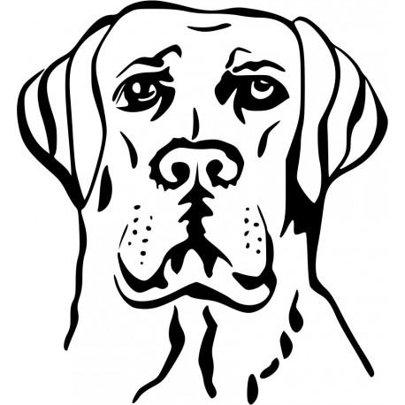 Aufkleber: Dogge 2