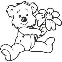 aufkleber autoaufkleber fl�gel, wolf, hund, babyaufkleber Teddy 5