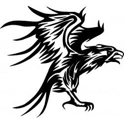 aufkleber autoaufkleber fl�gel, wolf, hund, babyaufkleber Adler 10