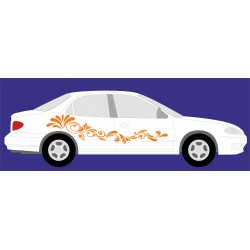 aufkleber autoaufkleber fl�gel, wolf, hund, babyaufkleber Create flowers Stickers yourself 1
