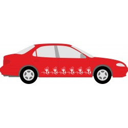 Autoaufkleber: Blumen Aufkleber selber gestalten 6 Aufkleber, Folie, Autofolie, selber gestalten, Aufkleber Motorhaube