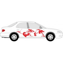 Autoaufkleber: Aufkleber Blumen selber gestalten 8 Aufkleber, Folie, Autofolie, selber gestalten, Aufkleber Motorhaube