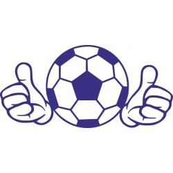 Autoaufkleber: Fussball Aufkleber 2 Aufkleber, Folie, Autofolie, selber gestalten, Aufkleber Motorhaube