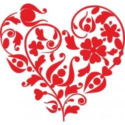 Autoaufkleber: Blumen-Herz Aufkleber, Folie, Autofolie, selber gestalten, Aufkleber Motorhaube