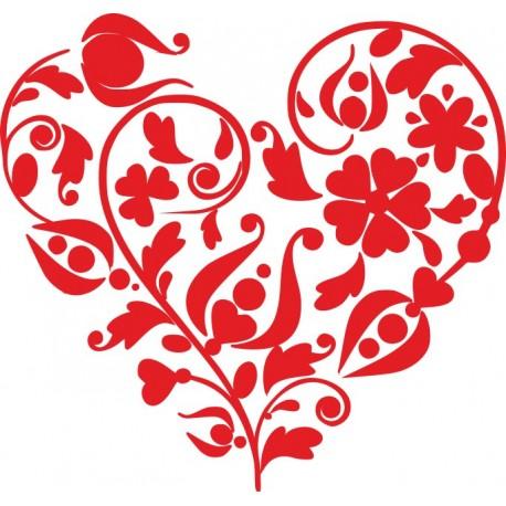 Aufkleber: Blumen-Herz