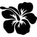sticker selber gestalten Hibiskus Hawai Blumen Aufkleber